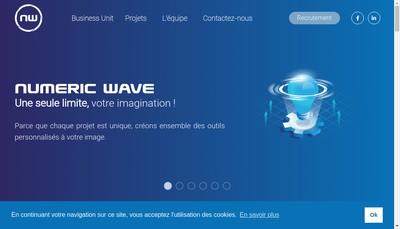 Site internet de Numeric Wave