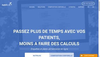 Site internet de Nutrilog