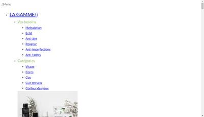 Site internet de Laboratoires Nym