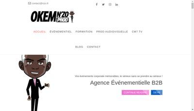 Site internet de N'Zo Entertainment Okem Consulting