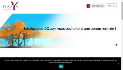 Site internet de Oasys Paris