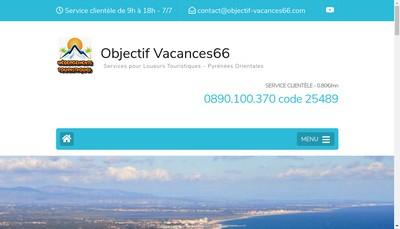 Site internet de Objectif Vacances 66