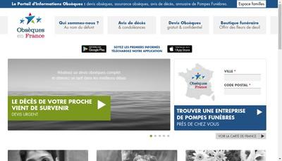 Site internet de Obseques en France