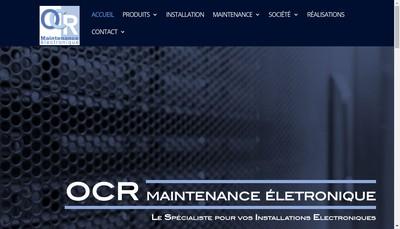 Site internet de Ocr Maintenance Electronique