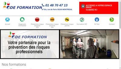 Site internet de Ode Formation