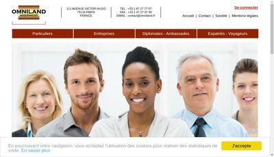 Site internet de Omniland Assurances