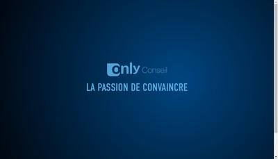 Site internet de Only Conseil