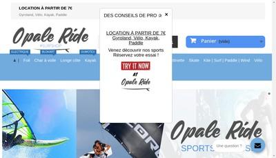 Site internet de Opale Ride