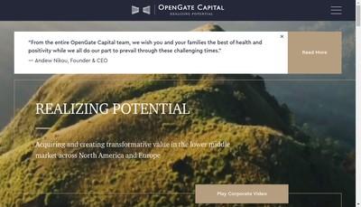 Site internet de Opengate Capital Management Europe