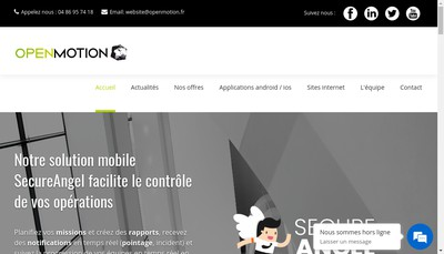 Site internet de Openmotion