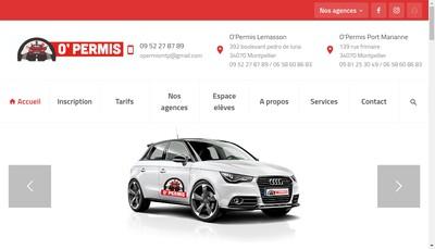 Site internet de O' Permis Lemasson