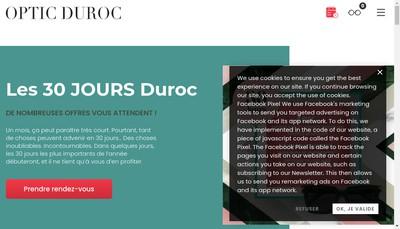 Site internet de Optic Duroc