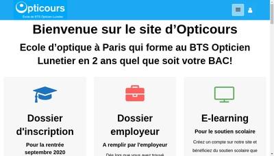 Site internet de Opti Cours
