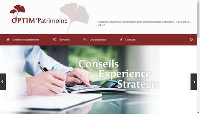 Site internet de Optim'Patrimoine