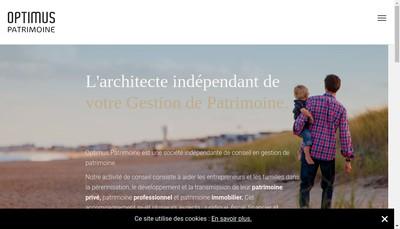 Site internet de Optimus Patrimoine