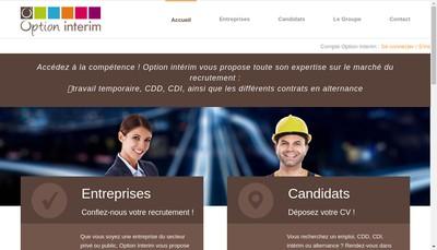 Site internet de Option Interim