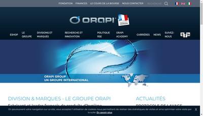 Site internet de Orapi