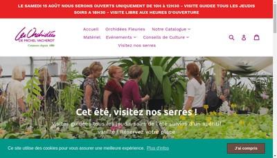 Site internet de Les Orchidees Michel Vacherot