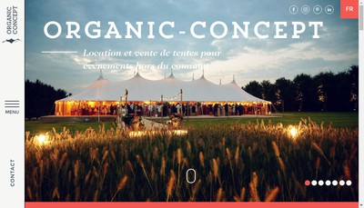 Site internet de Organic Concept