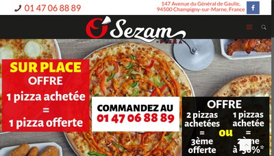 Site internet de O Sezam Pizza