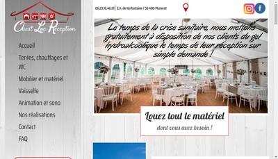 Site internet de Ouest Loc Reception