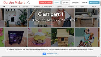 Site internet de Oui Are Makers