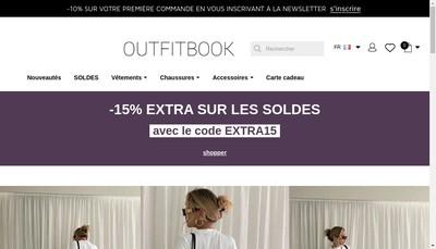 Site internet de Outfitbook