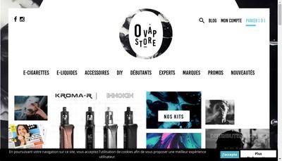 Site internet de O Vap Store
