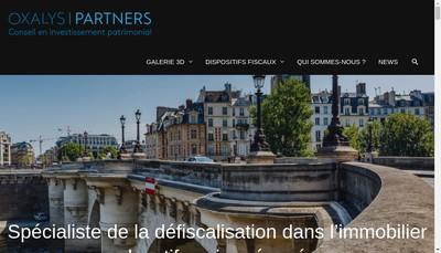 Site internet de Oxalys Partners