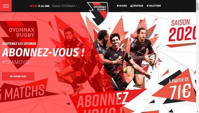 Site internet de Plastics Vallee Rugby