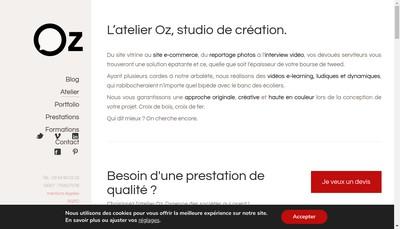Site internet de Atelier Oz