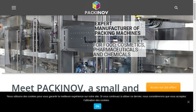 Site internet de Packinov