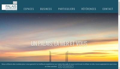 Site internet de Palais des Regates