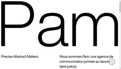 Site internet de Pam Studio