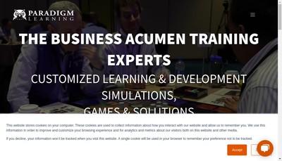 Site internet de Paradigm Learning