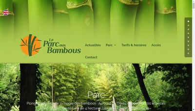 Site internet de Le Parc aux Bambous