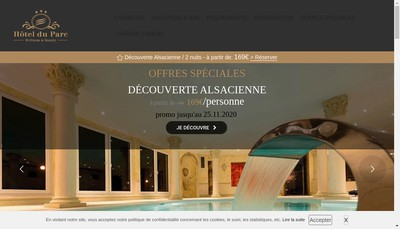 Site internet de Hotel Restaurant du Parc Niederbronn