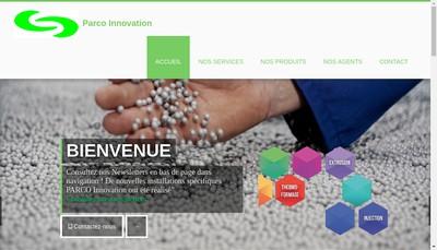 Site internet de Parco Innovation