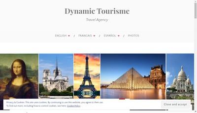 Site internet de Dynamic Tourisme