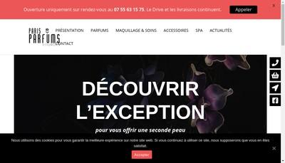 Site internet de Paris-Parfums
