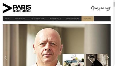 Site internet de Paris Heure Locale