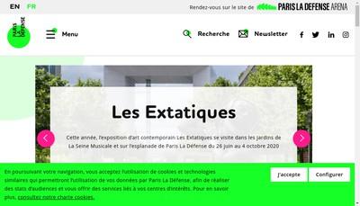 Site internet de Paris la Defense