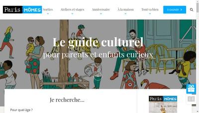Site internet de Les Editions Paris Momes