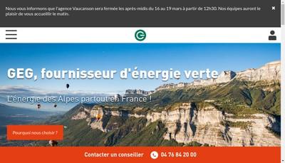Site internet de Gaz et Electricite de Grenoble