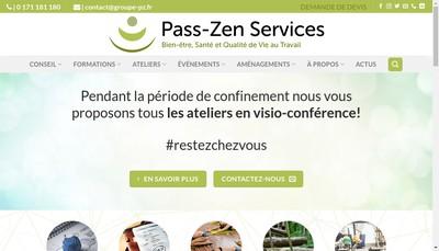 Site internet de Pass-Zen