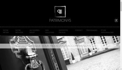 Site internet de Patrimonys Mediterranee