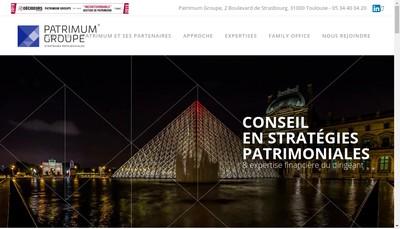 Site internet de Patrimum Paris