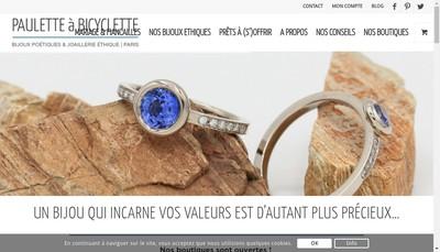 Site internet de Paulette a Bicyclette