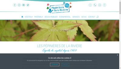 Site internet de Pepinieres de la Riviere