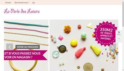 Site internet de La Perle des Loisirs
